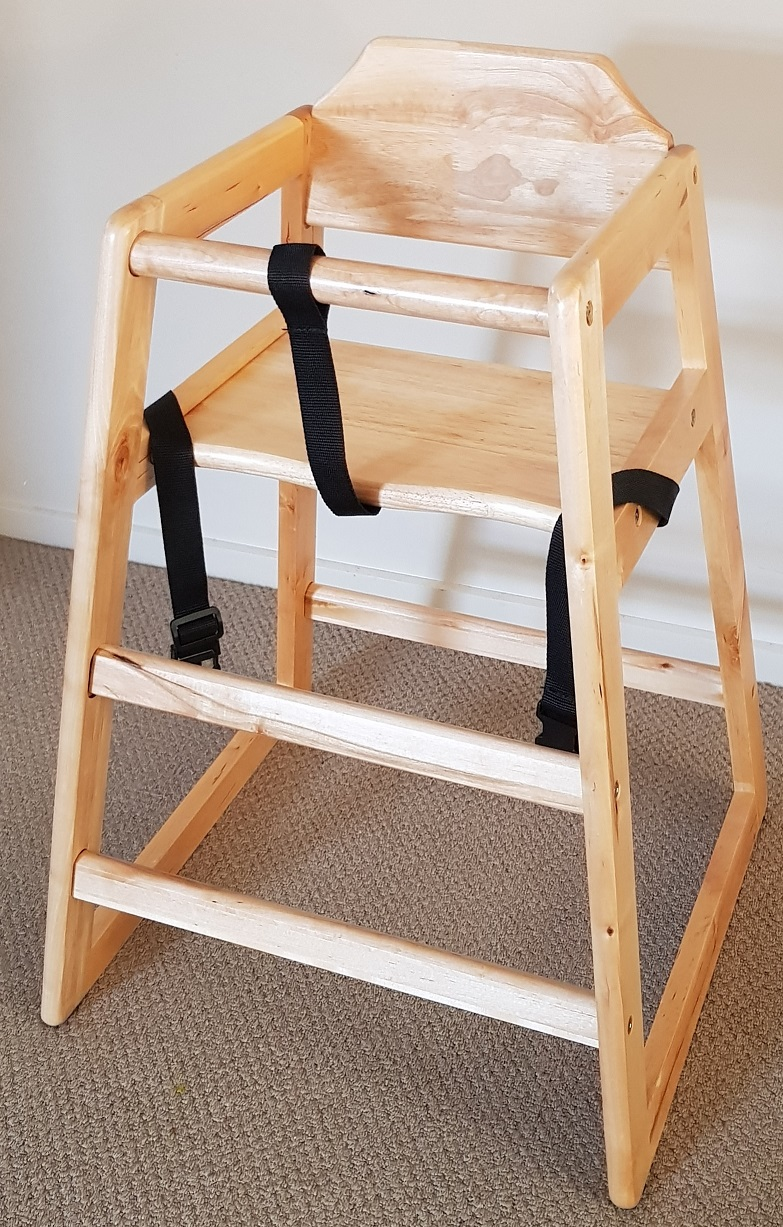 Solid Pine Wood High Chair