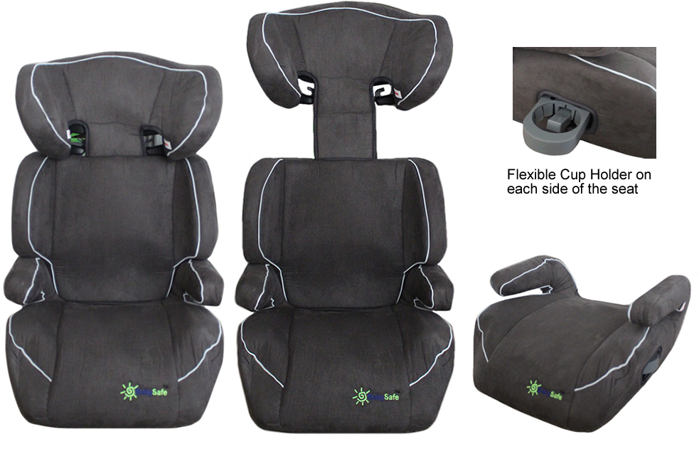 2 in 1 Booster Seat + Half Booster with Cup Holder fit 15-36kg