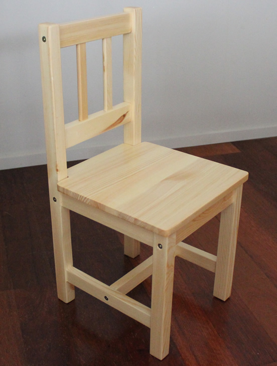 Two Solid NEW ZEALAND Pine Child Chairs