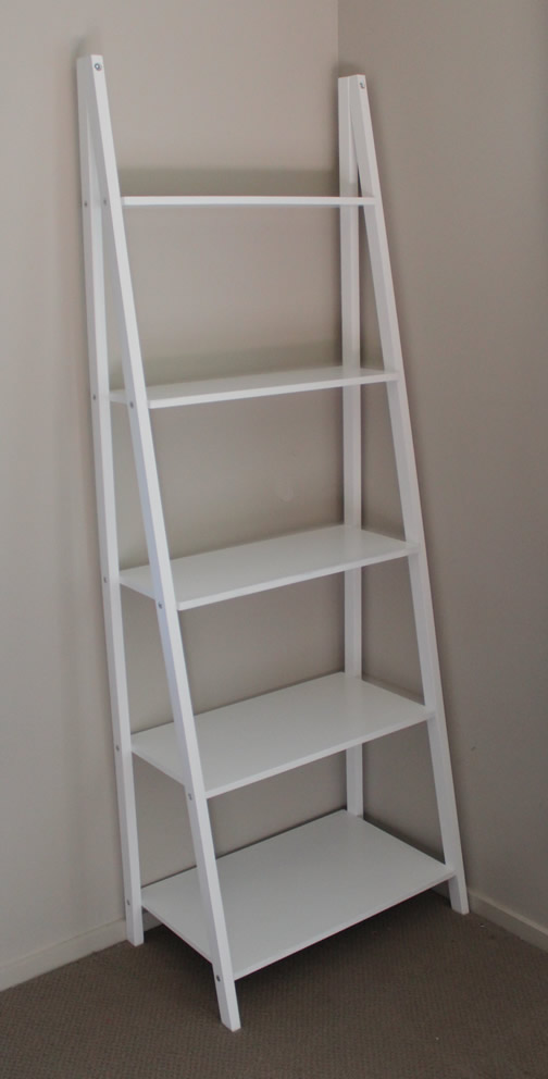 5 Tier Ladder Shelf. Solid Pine Frame