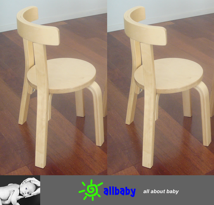 Two Wooden Kids Chairs